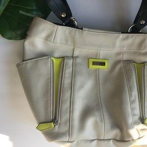 Large Miche Bag w/ Shell, Neon Miche Purse, Yellow